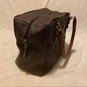 Bags - Brown two tone bowling bag purse